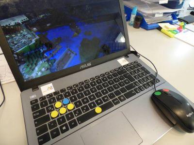 Computer mit minecraft